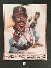 1983 CALIFORNIA ANGELS BASEBALL SCHEDULE POSTER. JACKSON, CAREW, JOHN