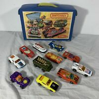 Vintage Lesney England Matchbox Superfast Lot of 11 Cars w/ Case 1970s Die-cast
