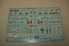 AIRFIX  NORTHROP  F-5E  TIGER II  02020  1:72 scale  decals