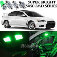 For Mitsubishi Lancer 2008-2015 Green LED Interior Kit + License Plate Light 8PC