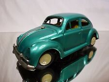 JAPAN TIN TOY BLECH VW VOLKSWAGEN BEETLE - GREEN L16.0cm - FRICTION - GOOD