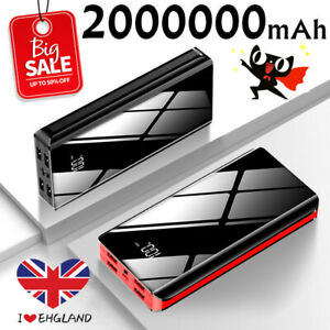 2000000mAh Power Bank 4USB Battery Charger Pack For Mobile Phone 2021 New