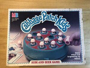 1984 Vintage Milton Bradley Cabbage Patch Kids Hide and Seek Game 100% Comp.
