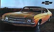 """1971 Chevelle w/SS Original Factory Issued Sales Brochure (POSTER) 11""""x18"""""""