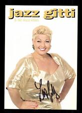 Jazz Gitti Autogrammkarte Original Signiert ## BC 95668