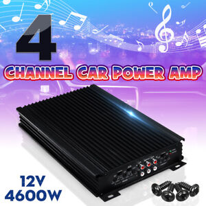 4 Channel Car Power Amplifier Stereo Audio Super Bass Subwoofer Amp 12V 4600W