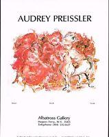 1970s Vintage Audrey Preissler Denver Horse Art Albatross Gallery Print Ad