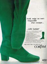 C- Publicité Advertising 1967 Les Chaussures Bottes en Corfam