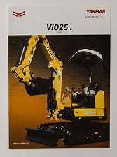 06582 New!! 2014 YANMAR ViO25 Excavator Power Shovel Japanese Catalog Flyer