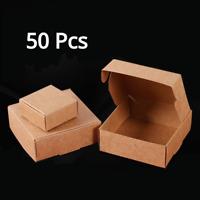 50X Kraft Gift Packaging Box Wedding Favor Candy Bag Party Supply DIY Works Box