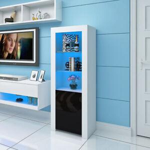 Cabinet Sideboard Unit Cupboard Display Matt body - High Gloss Doors LED Lights
