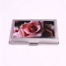 ID Case Pink Rose Stainless Steel from Casa D'oro Money Holder Wallet