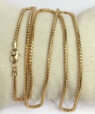 "18k Solid Yellow Gold Italian Shiny Franco Chain/Necklace. 24"". 17.18 Grams"