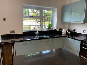 Modern kitchen units, fridge/freezer, sink, worktop, oven, wine fridge, Dishwash