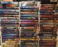 58 Disney Vhs Lot Clamshell Classics Presents Family Masterpiece Aladdin Mulan