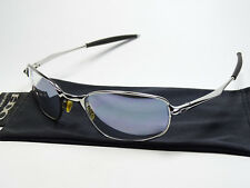 OAKLEY BIG SQUARE WIRE CHROME TITANIUM SONNENBRILLE CARBON BLADE SPIKE TAILEND A