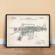 AR-15 ASSAULT RIFLE INVENTION POSTER 1966 PATENT ART PRINT 18X24 UNFRAMED GIFT