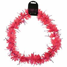 Flower Lei Hawaiian Tropical Garland Necklace Hen/Stag Night Fancy Dress Job Lot