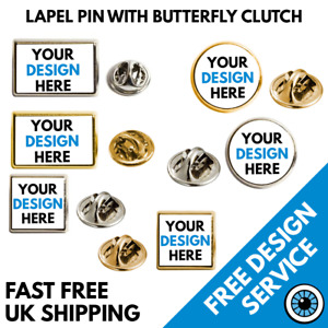 Custom Printed Lapel Pins • Bespoke Personalised Pin Badges Logo Image Badge
