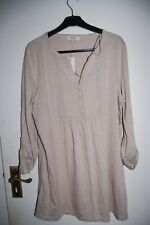 Papaya Weekend Loose Fitting Top Fawn Marl Long Sleeved Size UK 16 BNWT