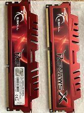 New listing Lot 8Gb (2x4Gb) G.Skill RipjawsX F3-12800Cl9D-8Gbxl Pc3-12800 Dimm Desktop Ram