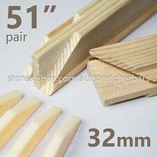 "51"" Pre-made 32mm Stretcher Bars (pair) - 32mm x 38mm - incl 4 corner wedge keys"