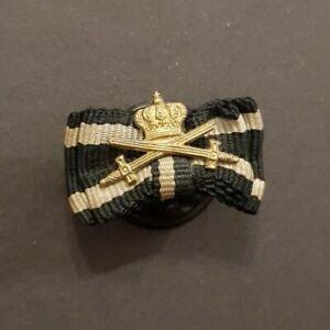 Miniatur Preußen Hausorden Hohenzollern Ritterkreuz Knopf Spange Band Schwerter
