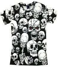 Skulls all over T-Shirt (gothic heavy metal punk motorcycle biker t shirt)
