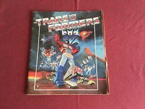 The Transformers 1986 Panini Sticker Album 100% Complete