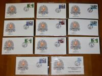 1990 TENNESSEE VOLUNTEERS VOLS First Day Cover FDC Lot Of 11