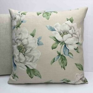 """Laura Ashley Wisley Natural Floral Cushion Cover 18""""x18"""" Professional Made Zip"""
