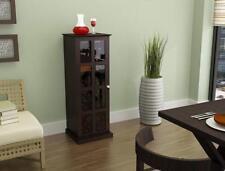 Atlantic Wood Bar Wine Rack Glass Liquor Cabinet with 24 Bottle Holder and...