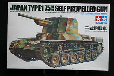 XE069 TAMIYA1/35 maquette tank 35095 char Japan type 1 75mm Self propelled gun
