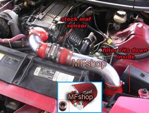 Red 3PC For 1994-1997 Chevy Camaro Z28 Pontiac Firebird 5.7L V8 Cold Air Intake