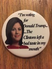 2016 Republican National Convention Monica Lewinsky Donald Trump Button Clinton