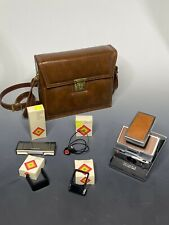 Polaroid SX-70 Land Camera Rare Case, Accessory Kit, Lens + More
