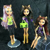 Monster High Clawdeen I Love Heart Fashion Doll Accessories Stands Set Lot