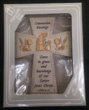 NIB Expressions of Faith Communion Blessings Ceramic Wall Cross 11 Peter 3:18
