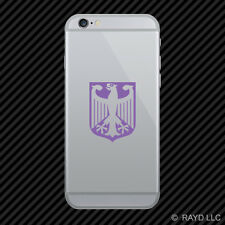 (2x) German Crest Eagle Cell Phone Sticker Mobile Deutschland Germany colors
