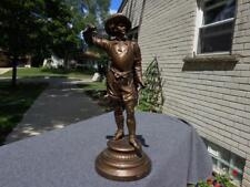 Ansonia Figural Standup Statue Don Cesaer Original Patina Missing Sword Antique