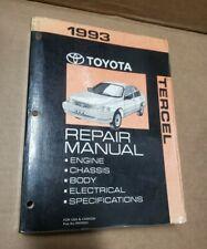 OEM 1993 Toyota Tercel Shop Service Repair Manual Book