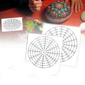 6x Mandala Dotting Tools to Painting Rocks Pen Brush Paint Stencil Template New