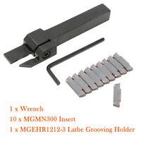 MGEHR1212-3  Werkzeughalter  Drehmeißel Klemmhalter 10x MGMN300 Wendeplatten