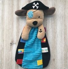 Taggies Tags RARE Pirate Puppy Dog Security Lovey Blanket Plush Baby Toy RARE
