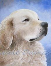 ACEO art print from art painting Dog 98 Golden Retriever by L.Dumas