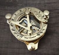 Brass Working Sundial Compass Handmade Solid Nautical Vintage Astrolabe Compass