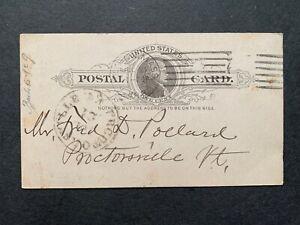1888 BOSTON MA AD POSTAL CARD + LETTER TENNIS & BASEBALL ! MACHINE CANCEL > VT !