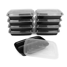 10Pcs Meal Prep Container Plastic Food Storage Reusable Microwavable Box + Lid