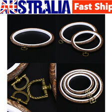 3X Cross Stitch Machine Embroidery Hoops Ring Circle Set Sewing Tools 14-21.8CM