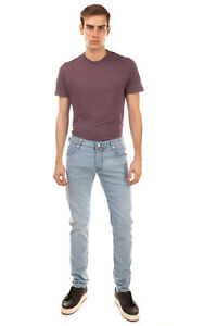RRP €185 JACOB COHEN Jeans Size 32 Stretch Garment Dye Button HANDMADE in Italy